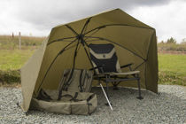 """Picture of Korum 50"""" Graphite Brolly Shelter"""